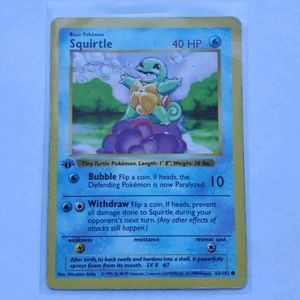 1st Edition Shadowless Squirtle 63/102